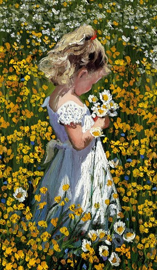 A Posie of Pretty Daisies by Sherree Valentine Daines - Limited Edition Canvas on Board